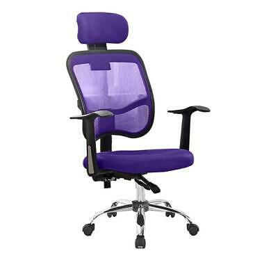 Purple Mesh Office Home Desk Computer Chair High Back Ergonomic Soft Cushioned