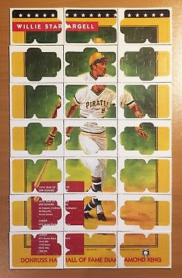 1991 Donruss Baseball Cards Willie Stargell Diamond King Puzzle Complete - Mint