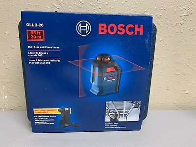 Bosch GLL 2-20 - Cross Line Laser Level with Plumb Points - 65 ft (NEW)