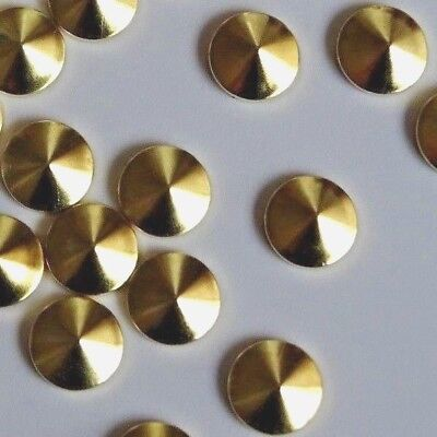 10mm x 100pcs Hotfix *GOLD* Korean Cone Plating Studs Flatback DIY Transfer