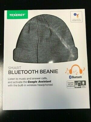 c70d787cad7 NEW Bluetooth Beanie by Tenergy w built in Wireless Headphones Gray Grey  Google