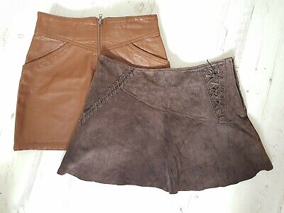 345afe8d3 X2 Mini Skirts Bundle, Nude Leather, Suede Tan Brown size 12 River Island H