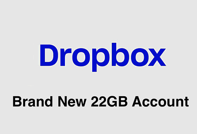 [Hundreds Sold, Relisted]Brand New Dropbox Account with 22GB Lifetime Space