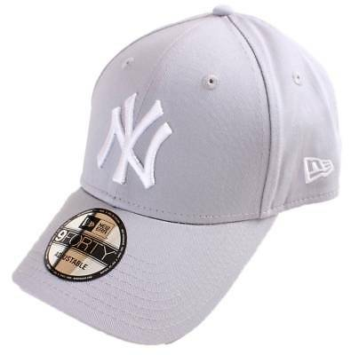 New Era 9FORTY League Essential New York Yankees Cap - Grey Optic White bc774aed155d