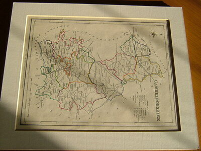 Antique Hand Coloured Map Of Cambridgeshire From Lewis' Topographical Dictionary