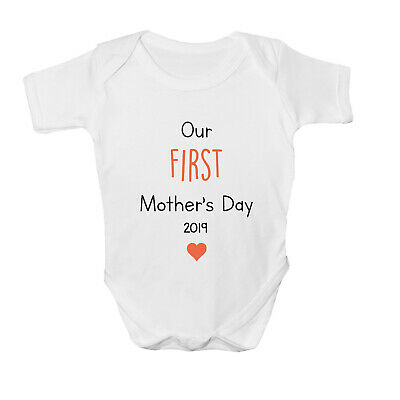 Our First Mother's Day 2019 Baby Grow Vest Bodysuit Baby Gift Mothers Day