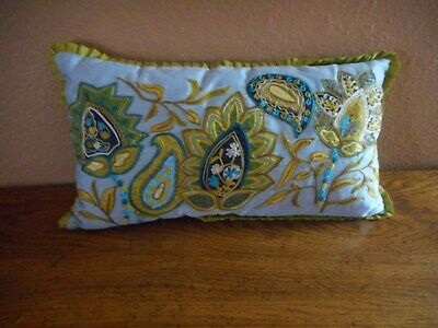 Groovy Pier One Imports Lumbar Throw Pillow Cover Embroidery Blue Onthecornerstone Fun Painted Chair Ideas Images Onthecornerstoneorg