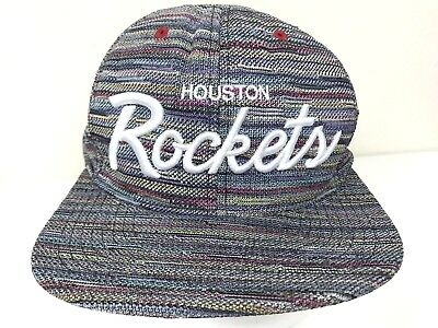 cheaper 1d4b7 af39a ... wholesale houston rockets nba mitchell ness gray multicolor script snapback  hat cap 189ab 1f830