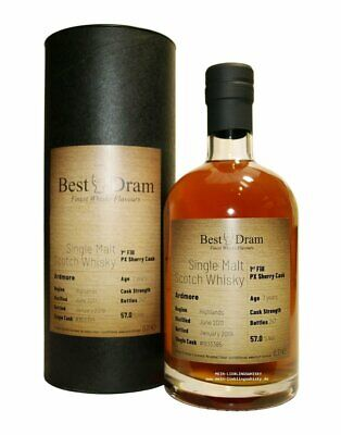 Ardmore 7 Jahre 1st Fill PX Sherry Cask 57,0% vol. 0,7 Liter