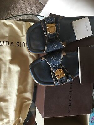 3862ebfb748 LOUIS VUITTON BROWN Thong LV Monogram Sandals with Box -  275.00 ...