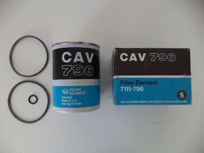 Cav 7111-796 Fuel Filter Element Case Ih,fendt,ford,mf,same,steyr,volvo Tractors