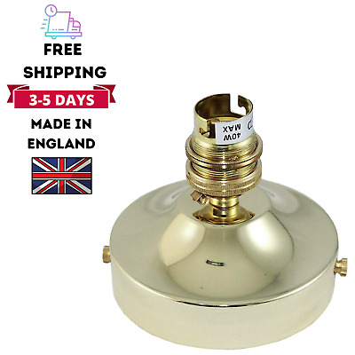 Modern Brass Ceiling Rose With Lamp Holder Fitting Lighting B22