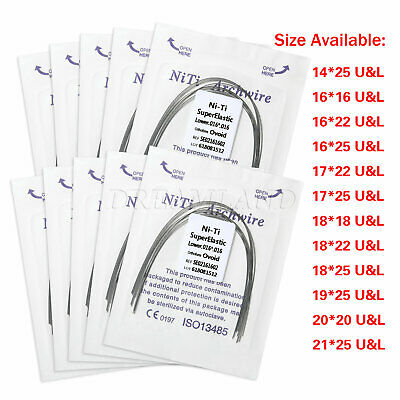 10X Dental Orthodontic Ortho Super Elastic Niti Rectangular Arch Wires Type YY