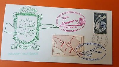France 1973 Cover 10Th International Aviation Meet Toulouse Concorde