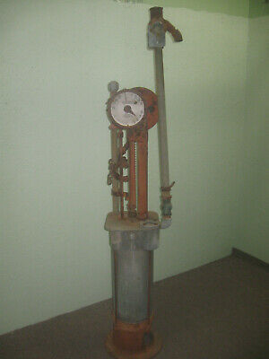 ANTIQUE WAYNE 278 CURBSIDE GAS PUMP pre visible pump Clock face early
