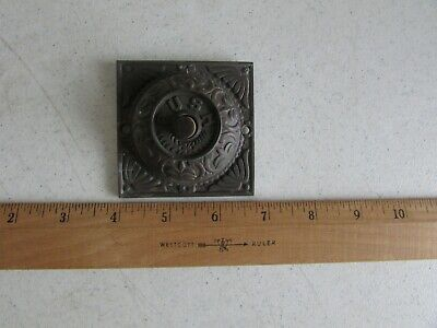 "Ornate Victorian Doorbell Door Bell Vintage Antique Button ""PUSH"" Brass Copper"