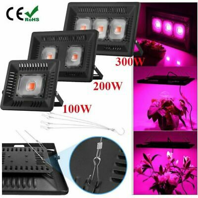 100/200/300W Led plante grow Lampe Croissance Floraison Horticole Light Crochet