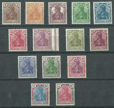 Germany Reich 1920 Mi 140-153 Germania (VIII)  MNH Philacall (S013
