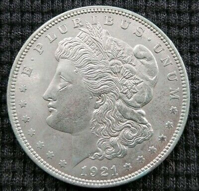 1921-P Morgan Silver Dollar Usa Coin Au Philadelphia Mint