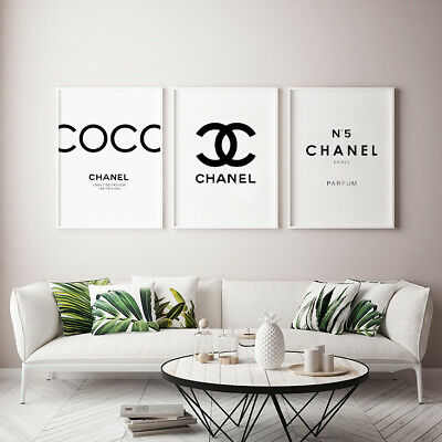 Chanel print set | Coco Chanel Print | Chanel CC |  Chanel number 5 print SET