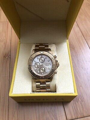 Invicta 1774 Pro Diver Watch 18k Gold, Stainless Steel Brand New W/Case