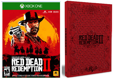 Red Dead Redemption 2 XBOX ONE New Sealed + RARE SteelBook + Gift + Fast S&H