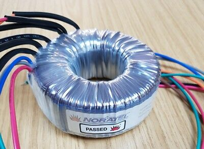 Toroidal Transformer, NORATEL 150VA 230/115V to 22/23V with thermal trip switch