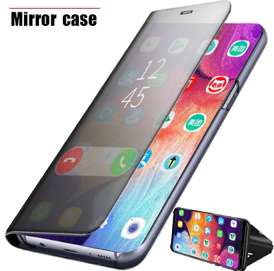 Case For Samsung Galaxy S10 & S10PLUS Smart Clear View Stand Mirror Flip Cover
