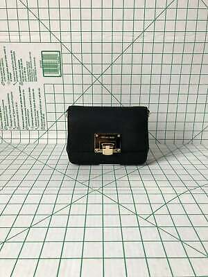 829fe135abaa Michael Kors Tina Small Clutch Detachable Black Saffiano Leather Crossbody  Bag