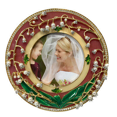 Faberge Lily Of The Valley Round Picture Frame