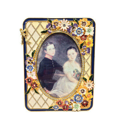 Faberge Basket of Wild Flowers Rectangular Picture Frame