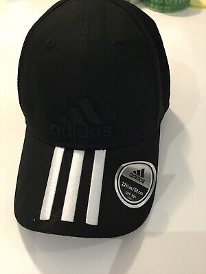 Mens Ladies Unisex adidas Black 3 Stripes Baseball Cap - One Size Fits Most