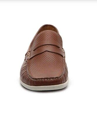 2adb00f9c9c Men Mercanti Fiorentini Penny Loafer Perforated Leather Padded Cognac MSRP   129