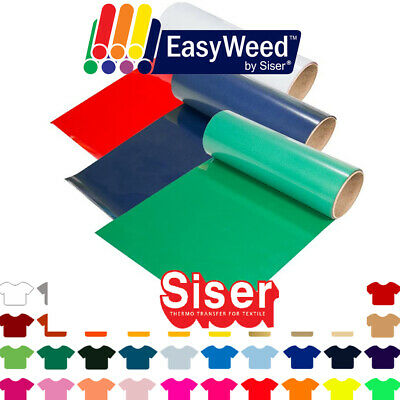 "Siser Easyweed Heat Transfer Vinyl HTV - Pick 5 Rolls for $49.98, 12"" x 3ft Each"