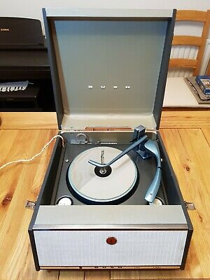 Vintage Bush SRP31D 1960s valve record player new cartridge gd working condition