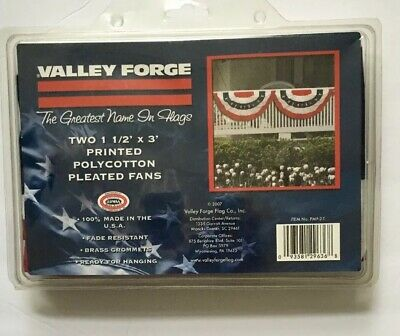 0554a40043af American Flag Bunting Banner Polyester 3  x 1.5  100% Made in USA 2