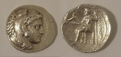 ALEXANDER III THE GREAT- 336 to 323 BC SOLID SILVER TETRADRACHM GREEK COIN17.05g