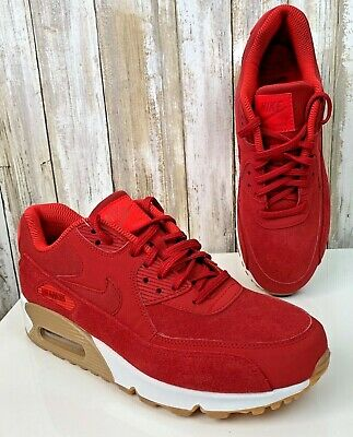 brand new d5fd7 94fe2 NIKE Women s Air Max 90 SE Running Shoes OSU Red Suede 881105-602 Size 8.5