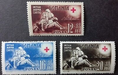 ROMANIA-RUMUNIA STAMPS MNH - Red Cross,1943,**