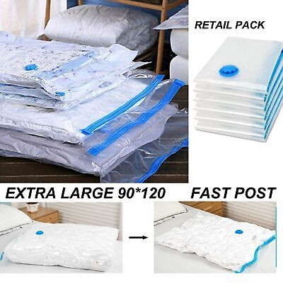 Extra Large Space Saving Storage Vacuum Bags Clothes Bedding Organiser Under Bed