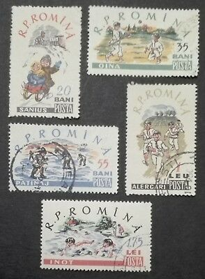 ROMANIA-RUMUNIA STAMPS - Children`s Sports, 1960, used