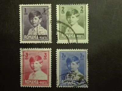 ROMANIA-RUMUNIA STAMPS - King Mihai, 1930, used