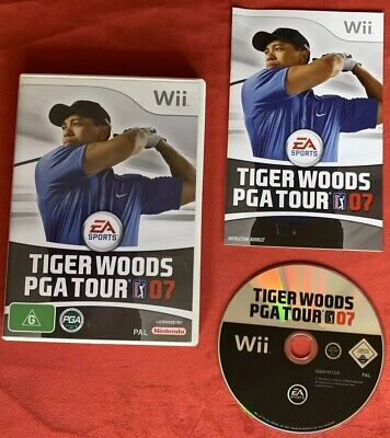 Tiger Woods PGA Tour 07 Game for Nintendo Wii / Wii U PAL complete!