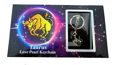 ZODIAC LOVE PEARL Kit Necklace Pendant Gift Box Aries Taurus