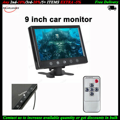 9 TFT LCD Car Parking Monitor Remote 2 CH Video Input For VCD