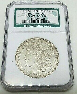 "1921 Ngc  ""binion Collection""  Morgan Silver Hoard  Silver Dollar Coin  !!"