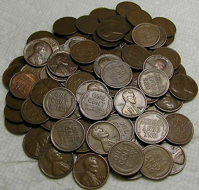 2 Rolls Of 1928 S San Francisco Lincoln Wheat Cents From Penny Collection