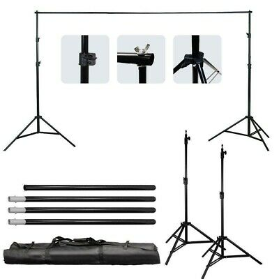 10Ft Adjustable Background Backdrop Support System Stand w/ FREE Green Backdrop