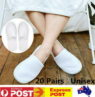 20 Pairs Unisex Disposable Non-Slip Slippers Soft&Light For Spa/Hotel/Guests Use