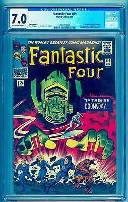 Fantastic Four 49 Cgc 7.0 ~ 1St Galactus 2Nd Silver Surfer ~ See Our 48 Auction